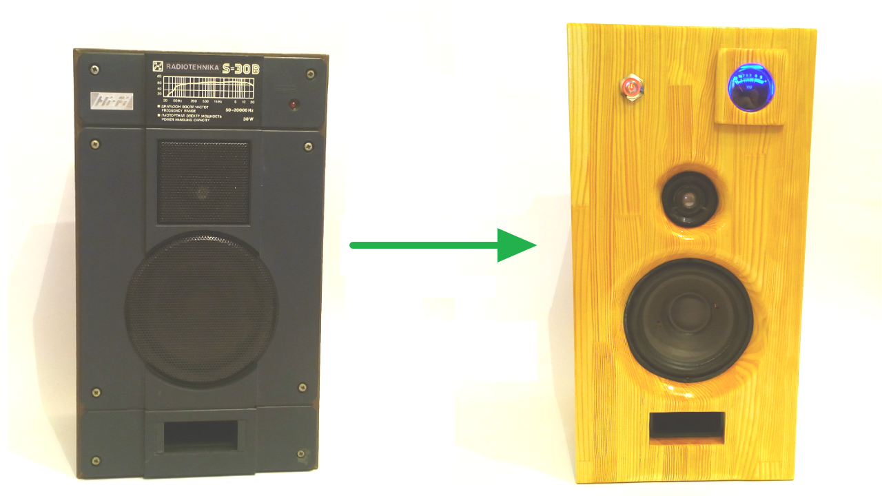 RADIOTEHNKIKA S-30 speakers from old to new